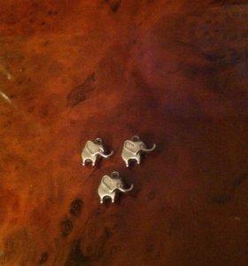 Подвески слон маленькие