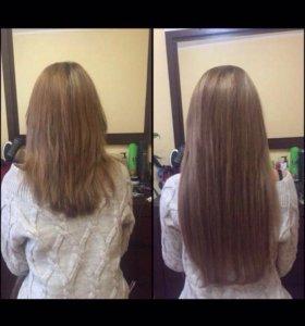 Наращивание волос!снятие,коррекция,капсулирование