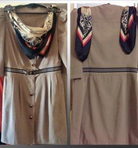 Платье-тренч 46
