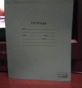 Тетради по математике и по русскому языку.