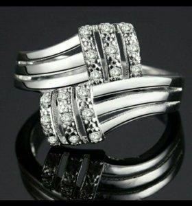 Кольцо с пробой 925 новое