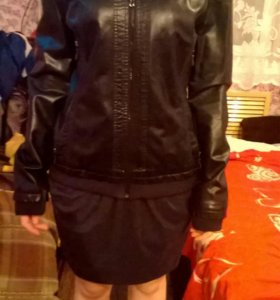 Кожаная куртка.возможен обмен на кожанку 46размера