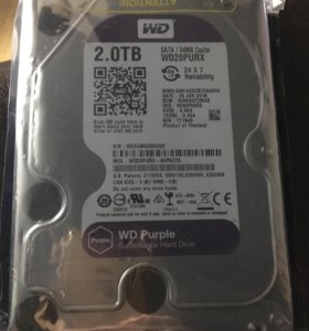 Жесткий диск  2tb  WD Purple