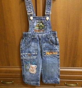 Джинсовый комбинезон ( джинсы)