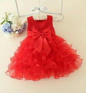 Нарядное платье на девочку 1 год