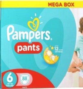 Трусики Pampers pants 3,6