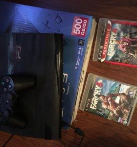 PS 3 Super Slim 500gb + Far Cry 3/4