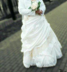 Свадебное платье+шубка в подарок!!!