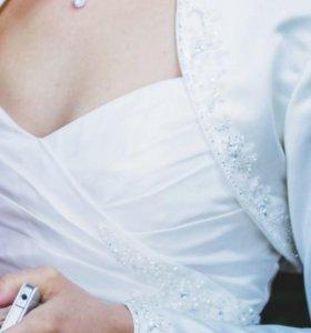 Накидка-боллеро на свадебное платье