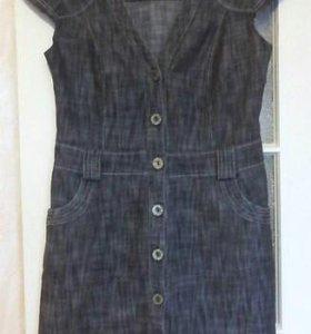 Платье сарафан р.46-48 джинсовый