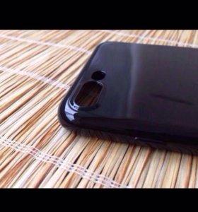 """Чехол """" Глянцево-Чёрный """" для iPhone 7 Plus"""