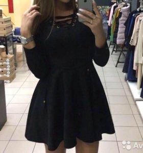 Платье из экозамши