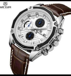 Стильные мужские часы Megir.
