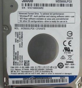 Жесткий диск 2.5, WD Blue Mobile WD5000LPCX 500 ГБ