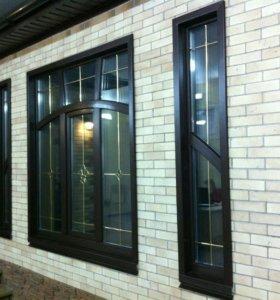 Окна, балконы,  перегородки алюминиевые витражи.