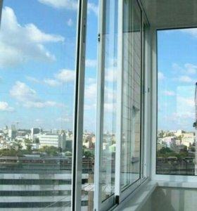 Алюминиевое окно 1500&1000