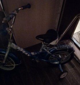 Детский велосипед с ручкой для родителей