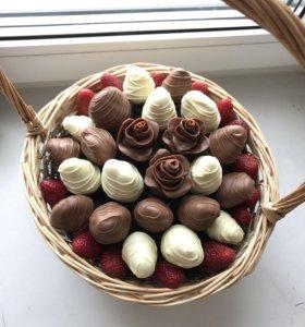 Розы из шоколада