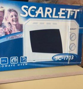 Микроволновая печь scarlet SC-1703 Новая
