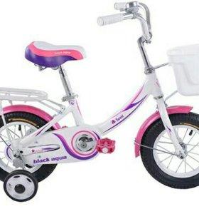 Велосипед для девочки Black aqua