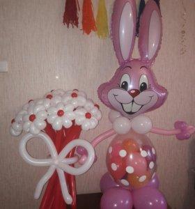 Набор заяц+букет