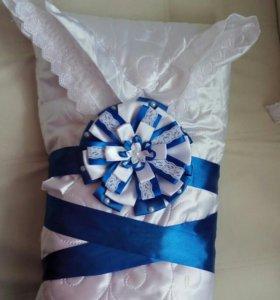 Одеяло-конверт на выписку (весна-осень)