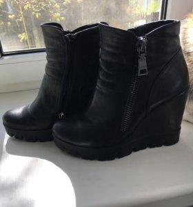 Обувь женская, ботинки демисезонные, кожа