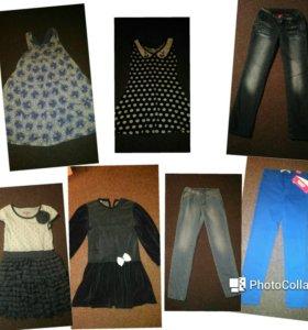 Платья, брюки, джинсы р. 134