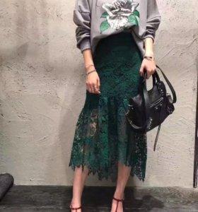 Роскошная кружевная юбка, размер S