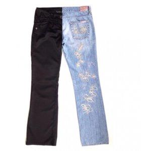 Модные джинсы+эффектные брюки (комплект), 42-44