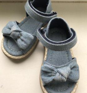Босоножки сандали джинсовые