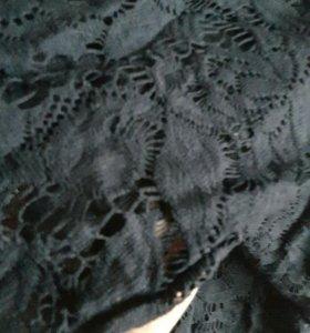 Платье черно- синее.