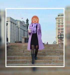 Красивое осенне-весеннее пальто на рост от 170 см