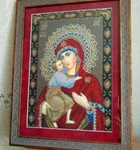 Феодоровская Богородица алмазная вышивка