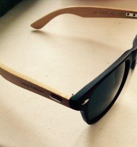 Очки с деревянной дужкой
