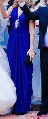 Шикарное платье синего цвета  на рост 170
