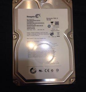 Новый жесткий диск seagate 750gb