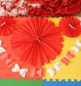 Гирлянда и веера (цветы-розетки)