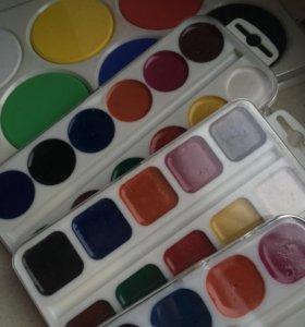 Акварельные краски от 50р