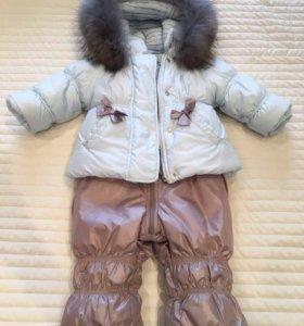 Комбинезон зимний на девочку с курточкой