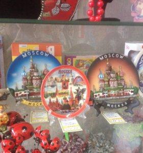 Тарелки с изображением г. Москва