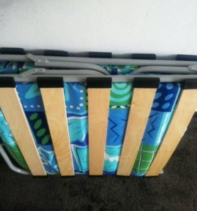 Раскладушка для взрослых с матрасом на ламелях нов