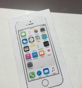 Коробка от iPhone 5s 16gb Silver