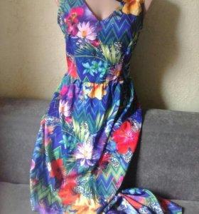 Платье в пол 44