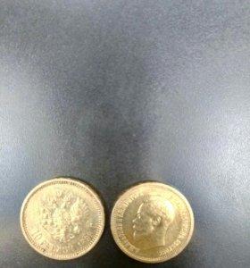 10рублей николаевский золото
