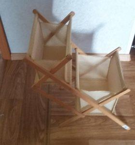 Плетеная корзина для хранения рукоделия