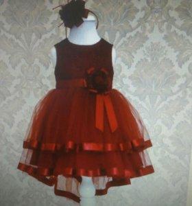 Платье праздничное с ободком