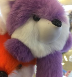 Брелок лиса натуральный мех кролика