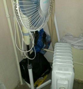 Вентилятор и радиатор масленный