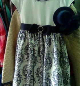Платье со шляпкой с вуалью